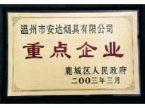 鹿城区人民政府2003重点企业